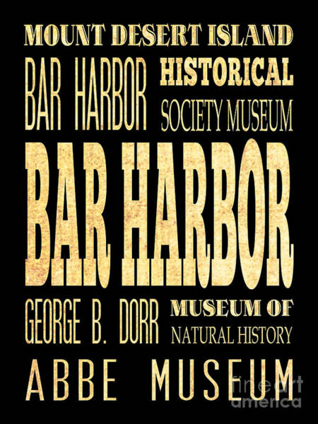 Bar Harbor Digital Art - Attraction And Famous Places Of Bar Harbor Maine by Joy House Studio