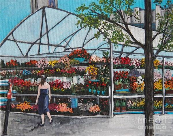 Montreal Scenes Painting - Atwater Market  by Reb Frost