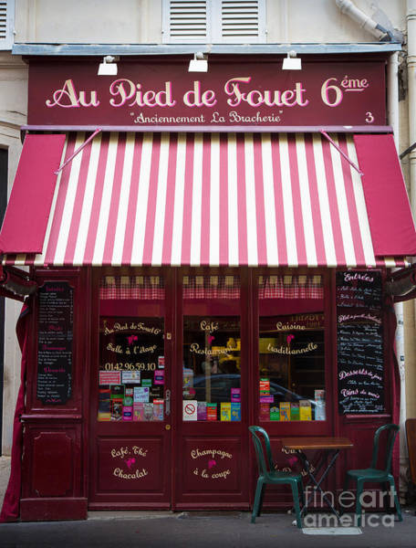 Storefront Photograph - Au Pied De Fouet by Inge Johnsson