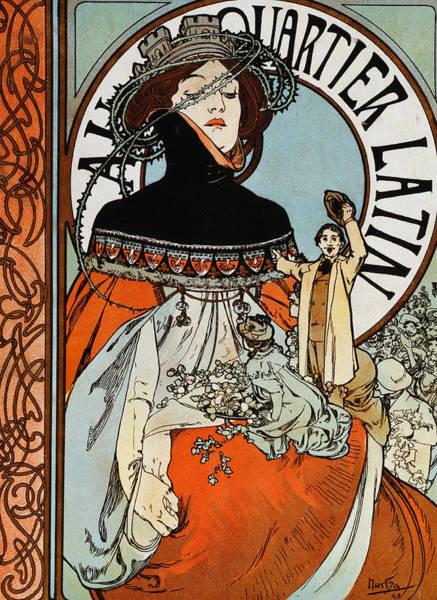 Alphonse Mucha Painting - Au Quartier Latin by Alphonse Marie Mucha