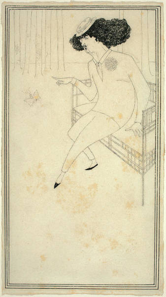 Beardsley Drawing - Aubrey Beardsley British, 1872 - 1898 by Quint Lox