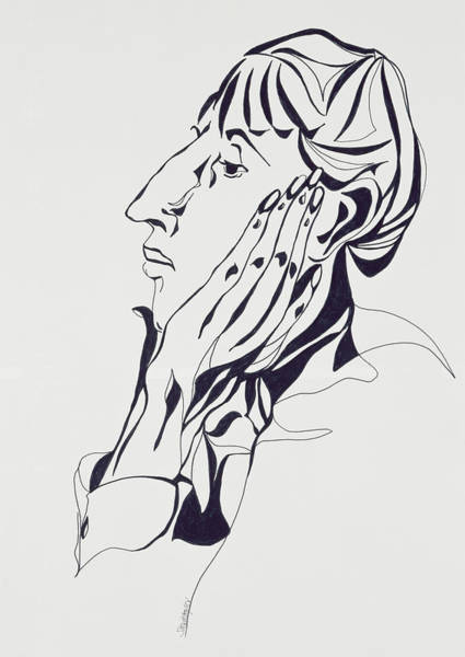 Beardsley Drawing - Aubrey Beardsley by Stevie Taylor