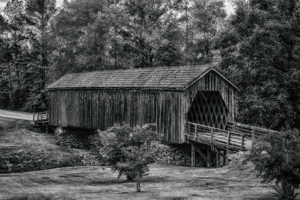 Photograph - Auchumpkee Covered Bridge - B/w by Heather Roper