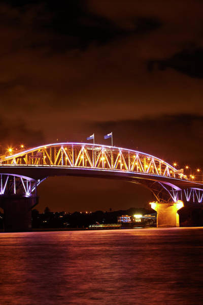 Auckland Photograph - Auckland Harbour Bridge And Waitemata by David Wall