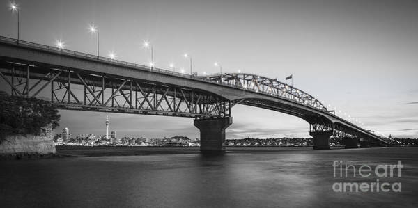 Wall Art - Photograph - Auckland Harbour Bridge Evening by Colin and Linda McKie
