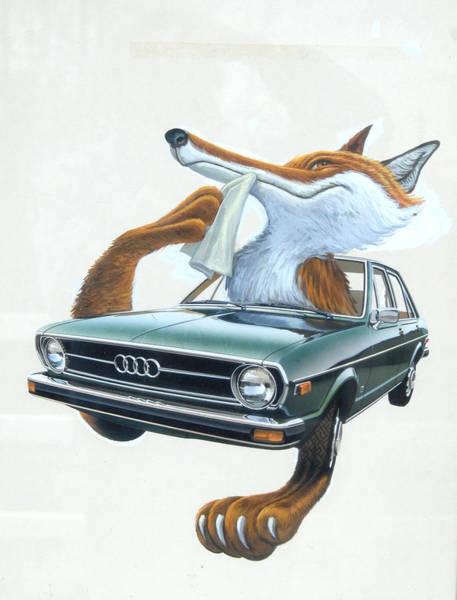 Painting - Audi Fox Artwork 1 by Mel Greifinger