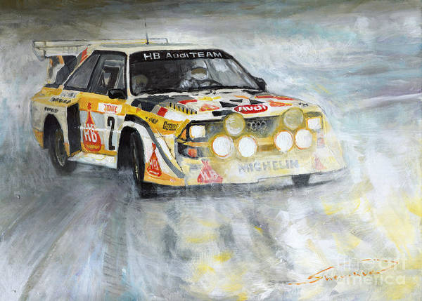 Wall Art - Painting - 1985 Audi Quattro S1 by Yuriy Shevchuk
