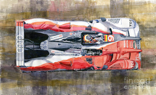 Le Mans 24 Wall Art - Painting - Audi R15 Tdi Le Mans 24 Hours 2010 Winner  by Yuriy Shevchuk