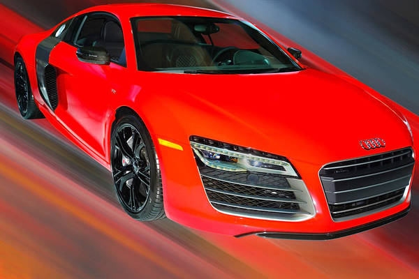 Photograph - Audi R8 V10 Plus Quattro Coupe 2014 by Dragan Kudjerski