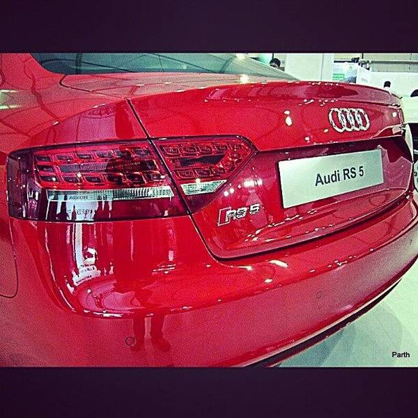 Audi Photograph - #audi #rs5 #red #tail #led #lamps #logo by Parth Patel
