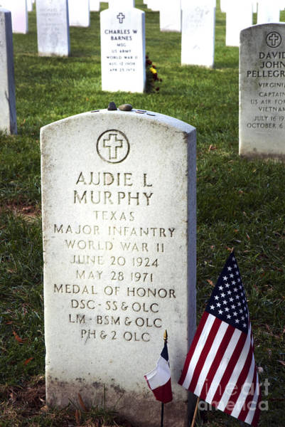 Medal Of Honor Photograph - Audie Murphy - Most Decorated by Paul W Faust -  Impressions of Light