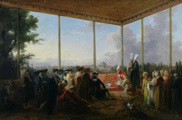 Official Photograph - Audience Given In Constantinople By The Grand Vizier Aimali Carac For Francois-emmanuel Guignard by Francesco Giuseppe Casanova