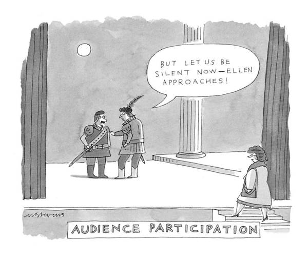 May 31st Drawing - Audience Participation 'but Let Us Be Silent Now by Mick Stevens