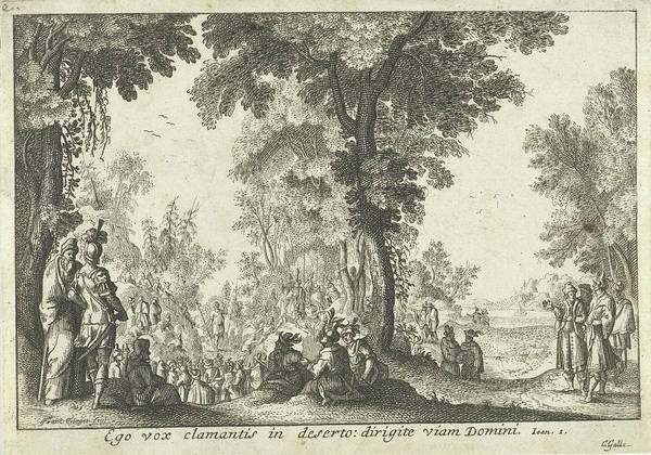 Bystander Drawing - Audience With John The Baptist, Franz Ertinger by Franz Ertinger
