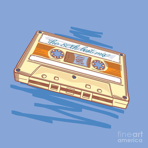 Wall Art - Digital Art - Audio Cassette by Alex bond