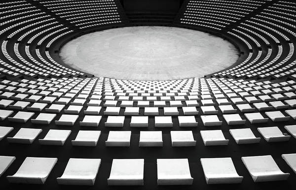 Circular Wall Art - Photograph - Auditorium by Hans-wolfgang Hawerkamp