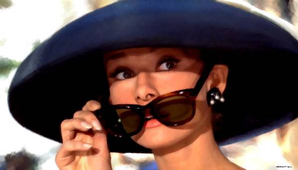 Audrey Hepburn @ Breakfast At Tiffany's Art Print