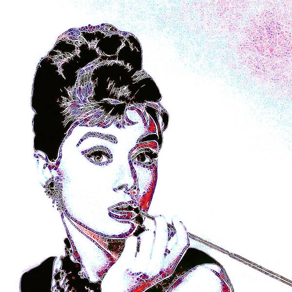 Wingsdomain Photograph - Audrey Hepburn 20130330 Square by Wingsdomain Art and Photography