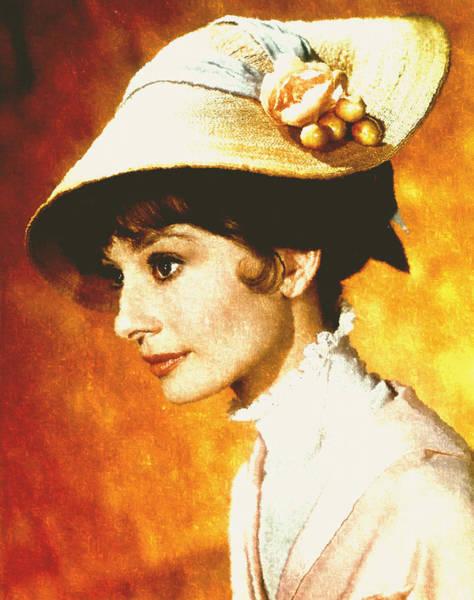 Digital Art - Audrey Hepburn - Impressionism by Isabella Howard