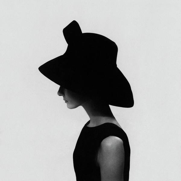Photograph - Audrey Hepburn Wearing A Givenchy Hat by Cecil Beaton
