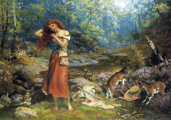 Silver And Gold Digital Art - Audreys Toilette by Arthur Hughes