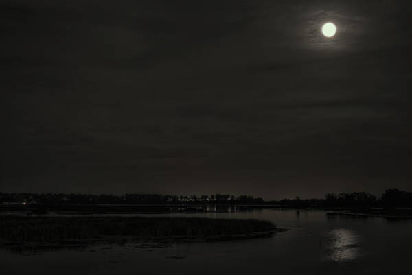 Photograph - August Full Moon Over Lake Wausau by Dale Kauzlaric