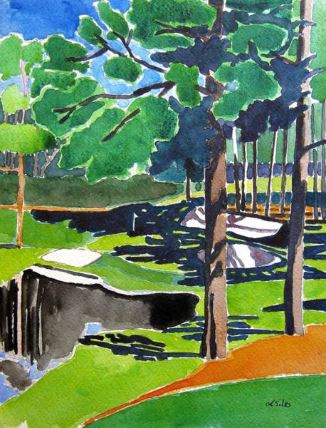 Augusta Masters Painting - Augusta 16th Georgia by Lesley Giles