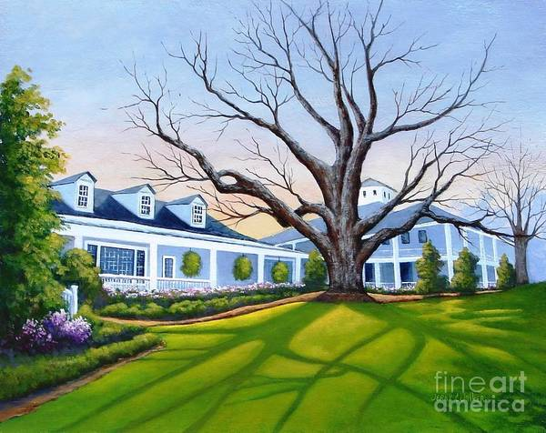 Augusta Masters Painting - Augusta National Clubhouse by Jerry Walker