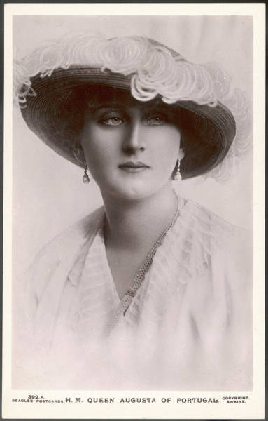 Wall Art - Photograph - Augusta, Queen Of Portugal Augusta by Mary Evans Picture Library