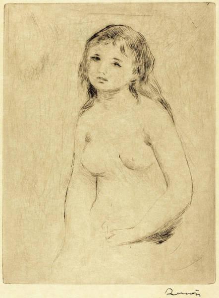 Bather Drawing - Auguste Renoir, Study For A Bather Etude Pour Une Baigneuse by Quint Lox