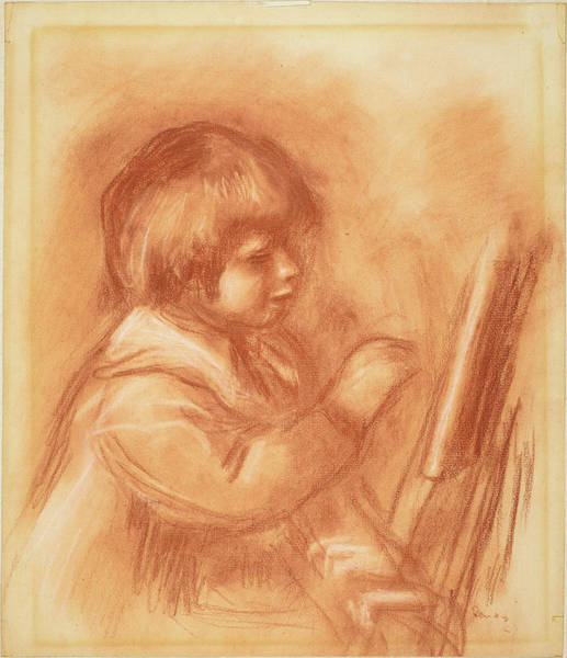 Coco Drawing - Auguste Renoir, The Artists Son Claude Or Coco by Quint Lox