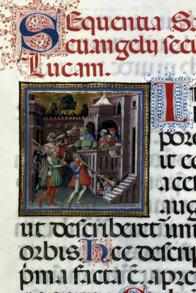 Census Painting - Augustus Declares Census by Granger