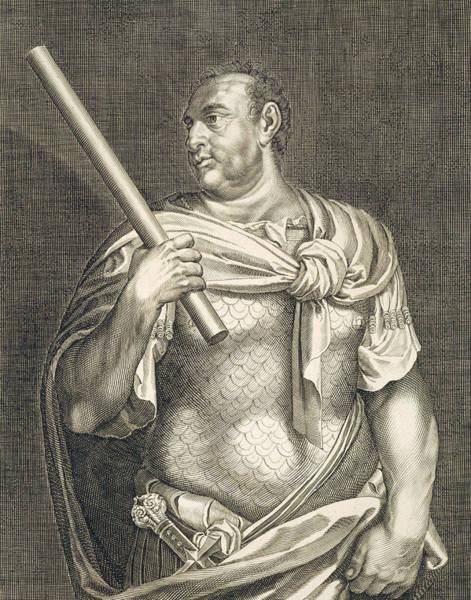 Suicide Painting - Aullus Vitellius Emperor Of Rome by Titian