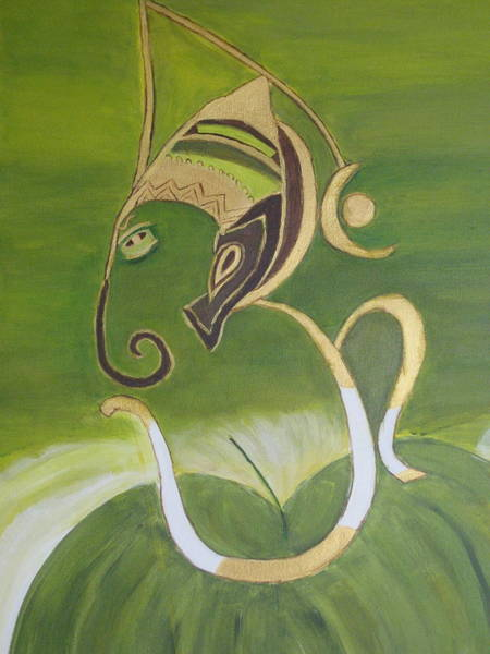 Ganesh Painting - Aum Ganeshay Namaha by Vandna Mehta
