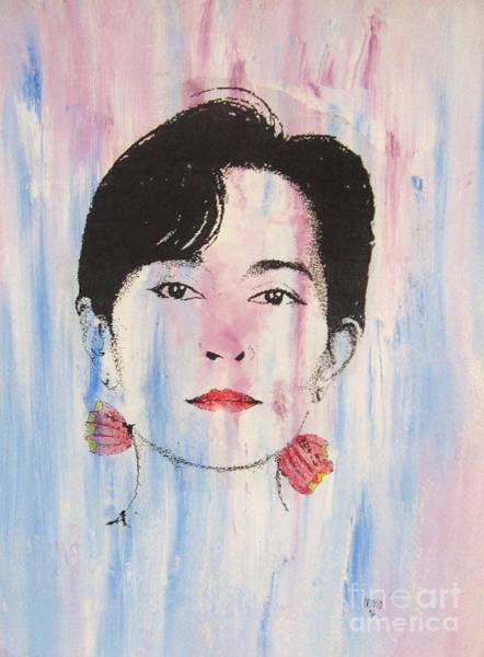 Nobel Painting - Aung San Suu Kyi by Roberto Prusso