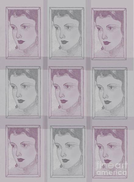 Digital Art - Aunt Edie Print by Donna L Munro