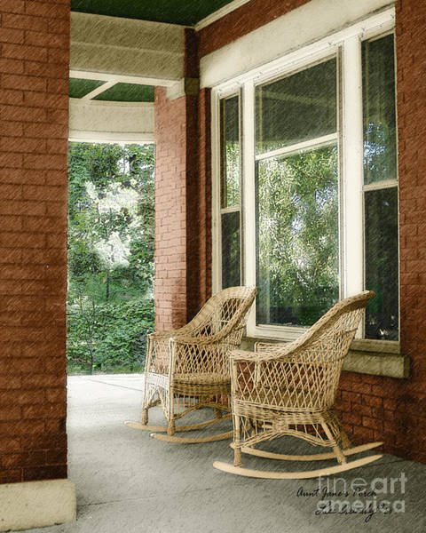 Photograph - Aunt Jane's Porch by Lee Owenby