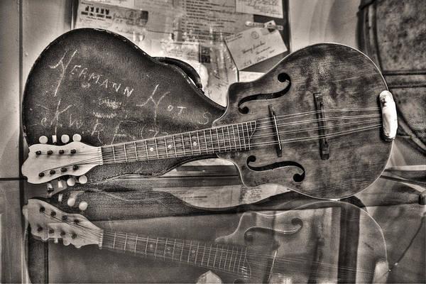 High Dynamic Range Digital Art - Aunt Pearls Mandolin by William Fields