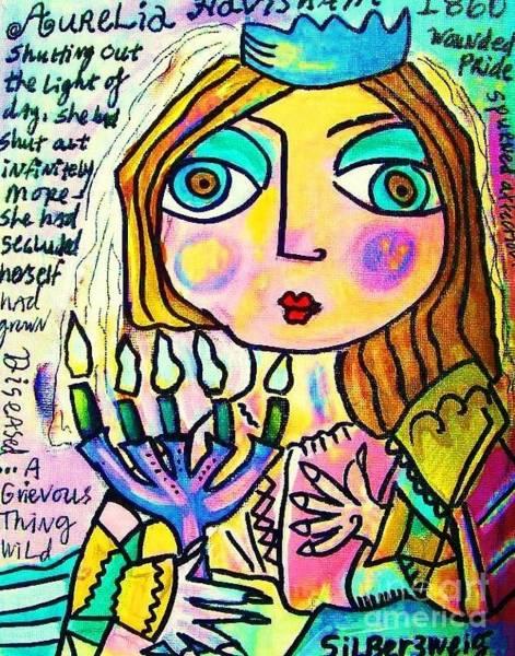 Painting - 0 Aurelia Havisham' Great Expectations by Sandra Silberzweig