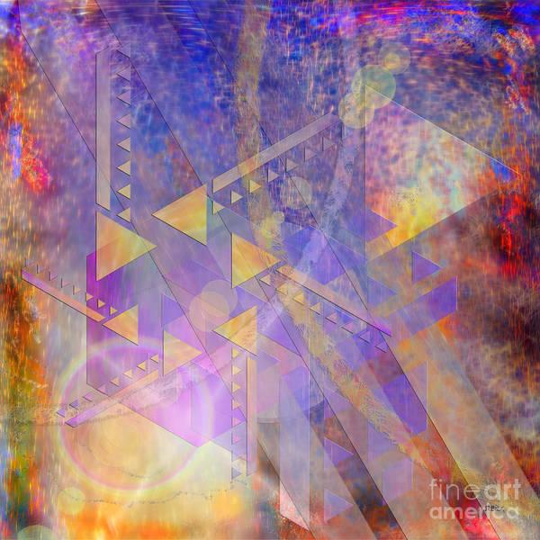 Lloyd Digital Art - Aurora Aperture - Square Version by John Beck