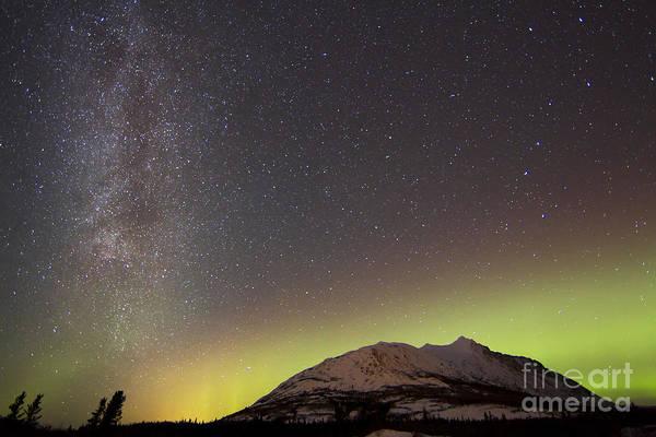 Photograph - Aurora Borealis And Milky Way by Joseph Bradley