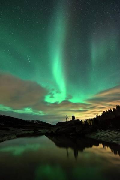 Scandinavian Photograph - Aurora Borealis And Quadrantids by Tommy Eliassen
