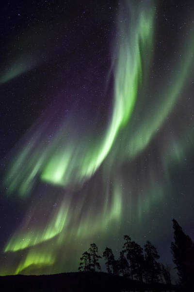 Photograph - Aurora Borealis Lake Inari Lapland by Heike Odermatt