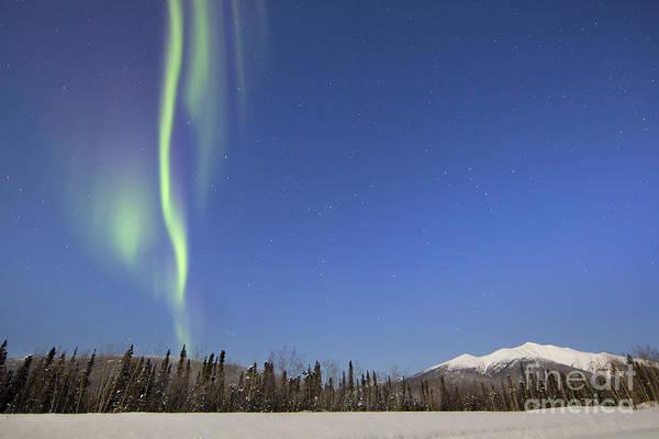Wall Art - Photograph - Aurora Borealis Over Mountain by Joseph Bradley