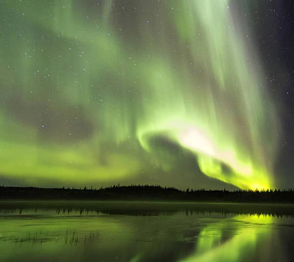 Yellowknife Wall Art - Photograph - Aurora Explosion by Valerie Ann Pond