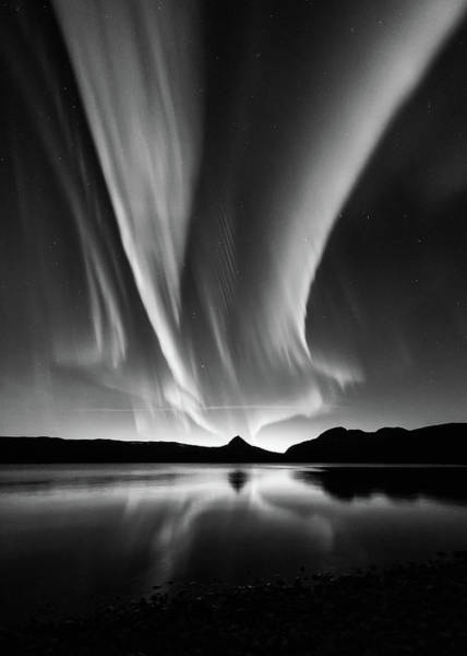 Wall Art - Photograph - Aurora In B&w by Kolbein Svensson