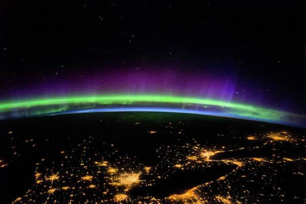 Wall Art - Photograph - Aurora Over The Great Lakes by Nasa/science Photo Library
