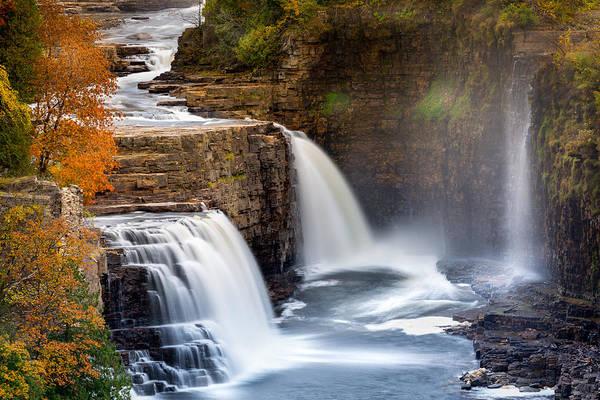 Photograph - Ausable Chasm Waterfall by Mihai Andritoiu