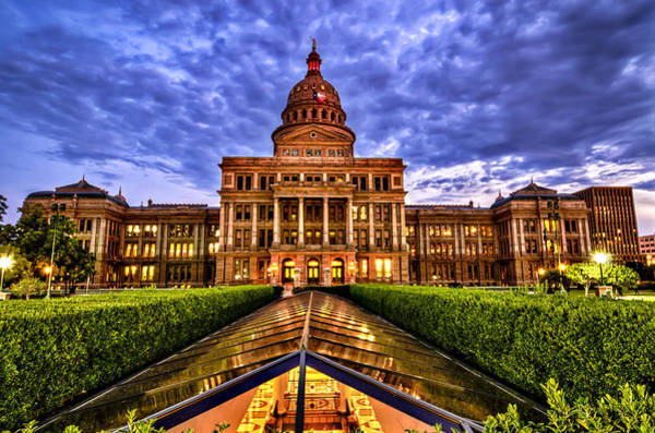 Photograph - Austin Capitol At Sunset by John Maffei