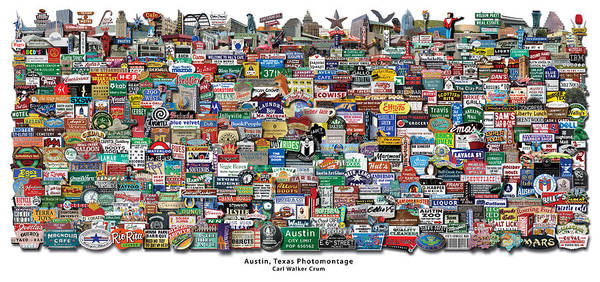 Capitol Digital Art - Austin Classic Photomontage by Sort Of Cool